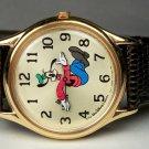 New! Disney Stunning Gold Backwards Goofy Watch! HTF! Numbers Backwards! Neat!