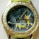 New Disney Rhinestone Embellished Tinkerbell Watch! HTF! Gorgeous!