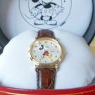 Brand-New Disney Ladies Seiko Mickey Mouse Watch! Mother of Pearl Spiral Dial!