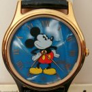Brand-New Disney Blue Mother of Pearl Mens Mickey Mouse Watch! By Lorus! HTF!