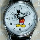 Brand-New Disney Silver Points To  Time Mens Mickey Mouse Watch! New W/tags! HTF