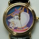 MINT! Disney Beauty and the Beast Watch Mrs. Potts Watch! Artist's Drawing! Wow!