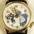Disney wind-up Alice in Wonderland Watch w/Mad Hatter! HTF! Animated!