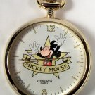 Disney Gold Mickey Mouse Pocket Watch Very Rare! New! HTF!