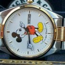 Brand-New Disney Seiko Mens Mickey Mouse Watch! Day & Date! Out of Prod!~ HTF!