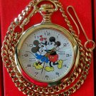 Brand-New Disney Limited Edition Minnie & Mickey Mouse Pocket Watch! RARE! HTF!