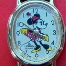 New! Disney Oval Bezel Ladies Minnie Mouse Watch! Gorgeous! Retired! HTF!