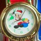 New Disney JINGLE BELLS Christmas MICKEY MOUSE Watch! HTF! Neat!@