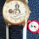New Disney 20th Anniversary Gold Icon Mens Seiko Mickey Mouse Watch! HTF Retired