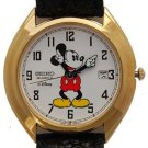 Disney Date Seiko Mens Mickey Mouse Watch! New! Hard To  Find!