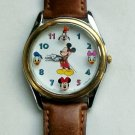 New! Disney Lorus Large Dial Mickey Mouse Watch! Mickey and Friends! HTF!