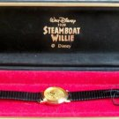 New Disney Limited Edition Steamboat Willie Gold Ladies Mickey Mouse Watch! HTF!
