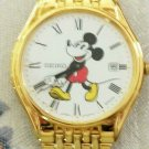 Disney Date New Seiko Mens Mickey Mouse Watch! Very Hard To Find!