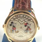 Disney Lorus Dual Time Minnie & Mickey Mouse Watch! New Hard To Find! NEW!