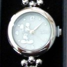 Brand-New Disney Silver Icon Ladies Mickey Mouse Watch! HTF!