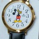 "Brand-New Disney 1-1/2"" Dial LORUS Mens Mickey Mouse Watch! HTF! Stunning!"