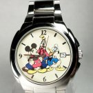 Disney Stunning Mens Mickey Mouse Watch With Friends! New! Gorgeous!
