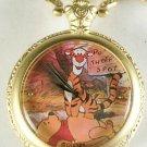 New Disney Winnie Pooh & Tigger Pocket Watch! Retired HTF! Stunning Ornate Bezel