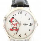Disney Stunning Silver Christmas Mickey Mouse Watch New Hard To Find!