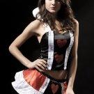 2-pc Queen Of Hearts Halloween Costume L