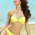 2-pc Twist Swimsuit Bikini yellow L