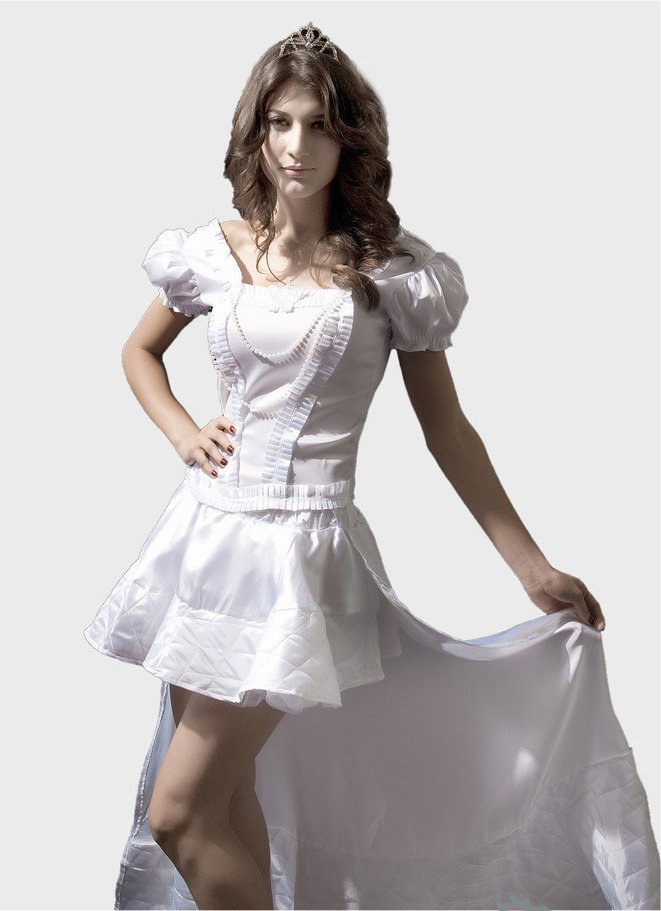 White Queen Anime Cosplay Costume M