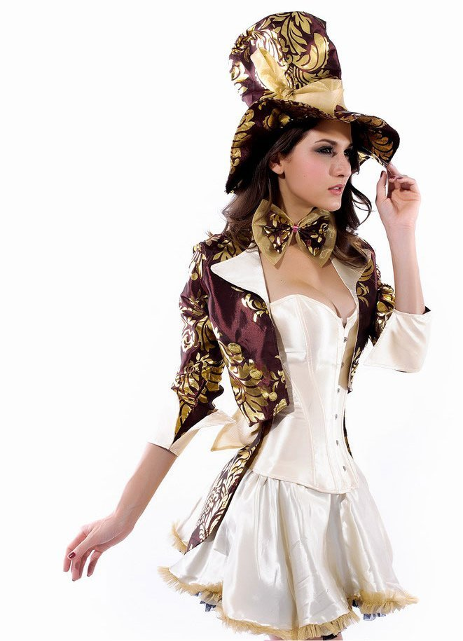 Mad Hatter Halloween Cosplay Costume XL