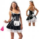 PVC Glossy French Maid Costume black/white M/L