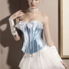 Dotted Lace Satin Corset baby blue M