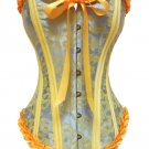 Damask Corset yellow/blue XL