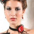 Gothic Lolita Rose Tassel Lace Necklace