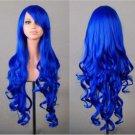 Cosplay Anime Long Wig saphire blue