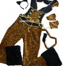 Velvety Tiger Halloween Costume S/M