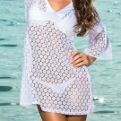 Beachwear Cover-Up white One Size