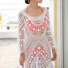 Crochet Beachwear Cover Up white S/M