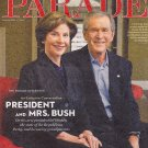 President George W. Bush, Laura Bush, Laura Linney - April 21, 2013 Parade Magazine
