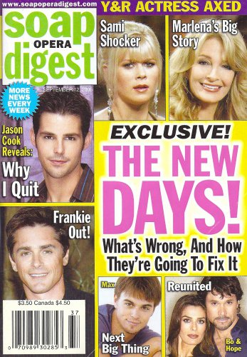 Days of Our Lives' Darin Brooks, Billy Warlock - September 12, 2006 Soap Opera Digest Magazine