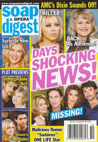 Days of Our Lives' Farah Fath, Judi Evans - March 6, 2007 Soap Opera Digest Magazine
