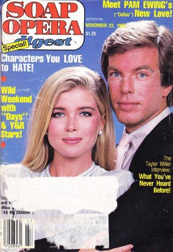 Taylor Miller & Peter Bergman, John Beck - November 22, 1982 Soap Opera Digest Magazine