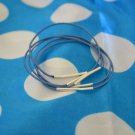 Powder Navy Blue Elastic Rubber Band and Metal Bangles - Set of 5