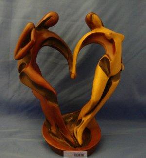 "10"" Rare High Quality Handmade Holding Hand Rare Resin Statue - Valentine's Day Gift"