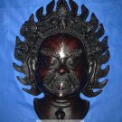 "12""Handmade Fishbone Tantric Mask Wall Hanging Bhairav, manifestation of Shiva"