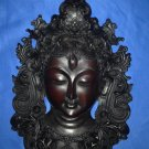 "12""Handmade Fishbone Powerful Tibetan Goddess White Tara Mask Wall Hanging Nepal"