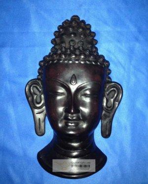 """11 """" Handmade Fishbone Buddha Mask Wall hanging from Nepal"""