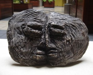 Modern Art Brut Sculpture. Signed by famous folk master Visionary Leon Kennedy