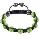 Hot Sell 10MM Disco Magnetite Ball Beads Macrame 9 Crystal Bracelet 82