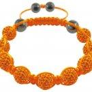 Hot Sell 10MM Disco Magnetite Ball Beads Macrame 9 crystal stones  Bracelet 196