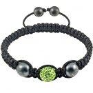 Hot Sell 12MM Disco Magnetite Ball Beads Macrame Crystal  Bracelet 132
