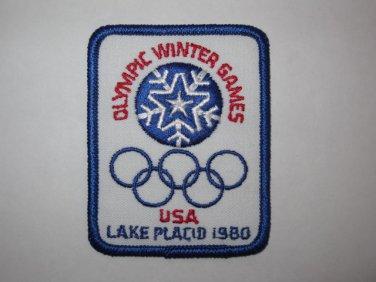 1980 Lake Placid U.S.A. Olympics Cloth Patch