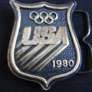 1980 U.S.A. Olympics Brass Belt Buckle